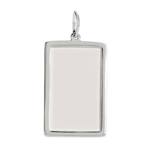 PN1005 Silver Filigree Photo Frame Pendant Inside copy